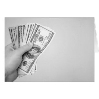 Handful of Money Stationery Note Card