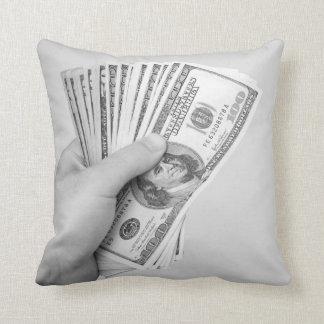 Handful of Money Throw Pillow