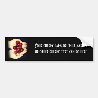 Handful of Ripe Cherries Car Bumper Sticker