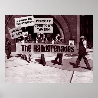¡Handgrenades en huelga! Posters