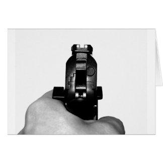 Handgun Greeting Cards