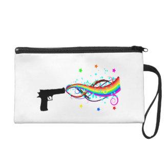 Handgun Shooting Stars & Rainbows Wristlet Purse
