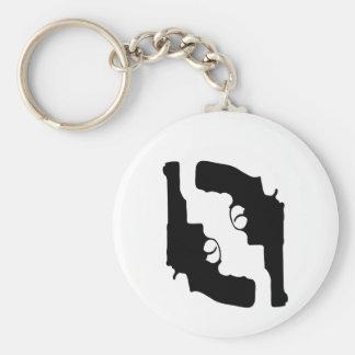 Handguns by Chillee Wilson Keychain