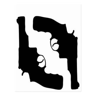 Handguns by Chillee Wilson Postcard