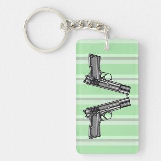 Handguns, Pistols, Firearms Keychain
