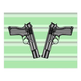 Handguns, Pistols, Firearms Postcard