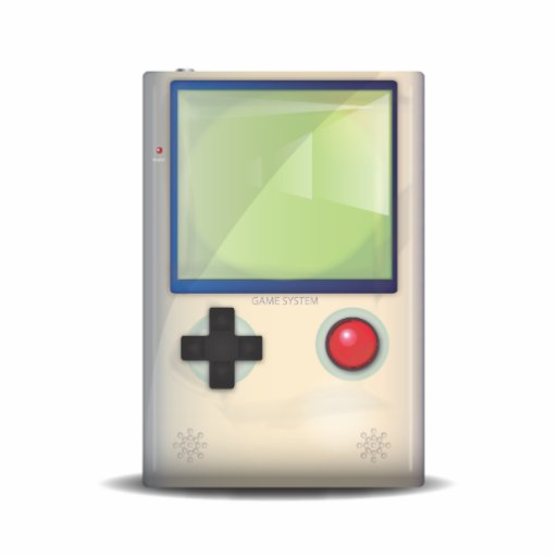 Handheld Game Console Photo Cut Outs