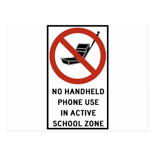 Handheld Phone Use Prohibited Postcard