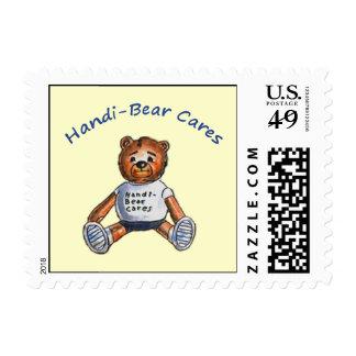Handi-Bear Cares Postage Stamps