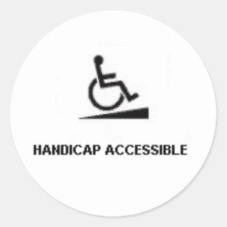 HANDICAP A CLASSIC ROUND STICKER