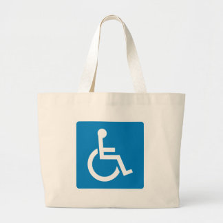 Handicap Accessibility Highway Sign Canvas Bag
