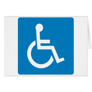Handicap Accessibility Highway Sign Card