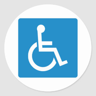 Handicap Accessibility Highway Sign Classic Round Sticker