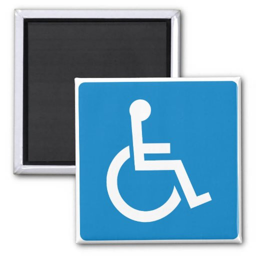 Handicap Accessibility Highway Sign Refrigerator Magnets