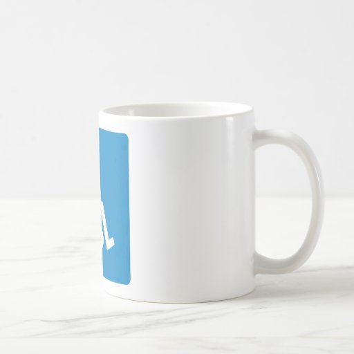 Handicap Accessibility Highway Sign Classic White Coffee Mug