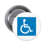 Handicap Accessibility Highway Sign Pinback Button