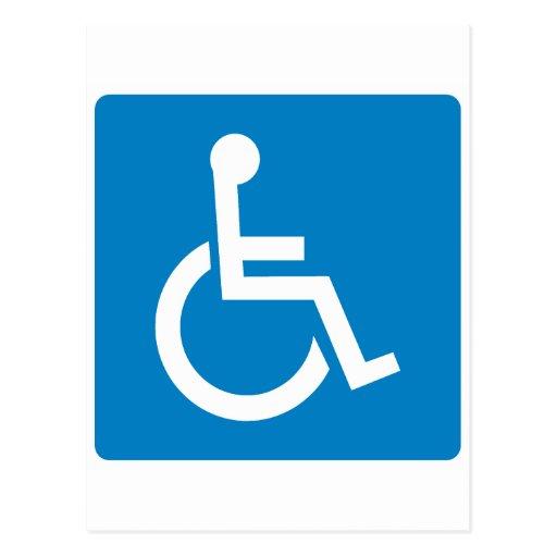 Handicap Accessibility Highway Sign Postcard
