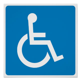 Handicap Accessibility Highway Sign Poster