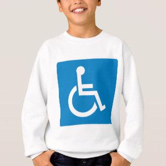 Handicap Accessibility Highway Sign Sweatshirt