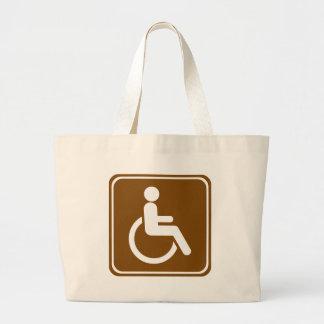 Handicap Accessible Recreational Facilities Sign Canvas Bags