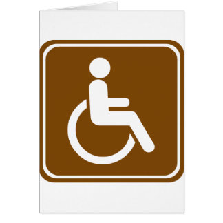 Handicap Accessible Recreational Facilities Sign Card