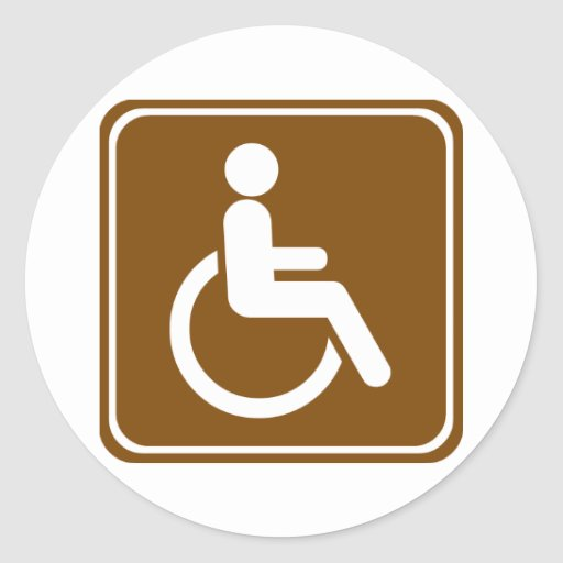 Handicap Accessible Recreational Facilities Sign Classic Round Sticker