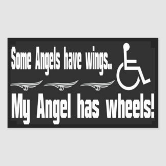 Handicap Angel Rectangle Sticker