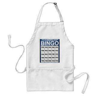 Handicap Bingo Adult Apron