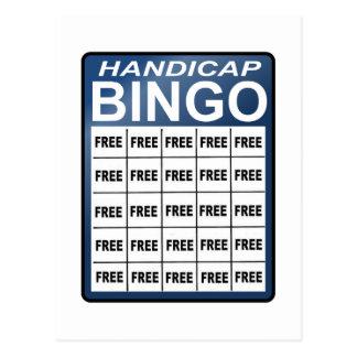 Handicap Bingo Postcard