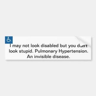 Handicap Bumper Sticker. Car Bumper Sticker