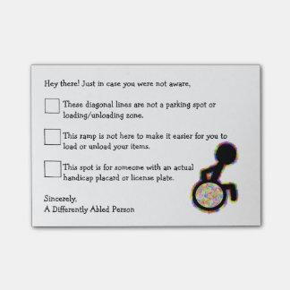 Handicap Car Post-It. Post-it Notes