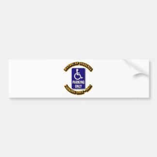 Handicap Insignia,Handicap sign,handicapped tag,ha Bumper Sticker