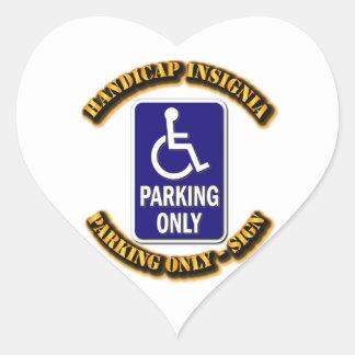 Handicap Insignia,Handicap sign,handicapped tag,ha Heart Sticker