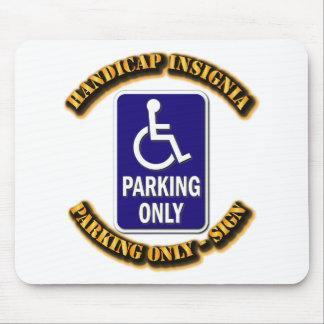 Handicap Insignia,Handicap sign,handicapped tag,ha Mouse Pad