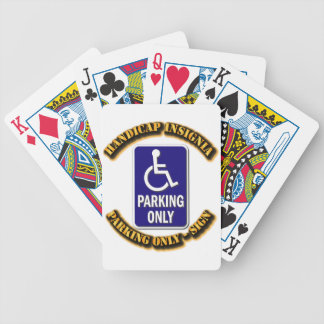 Handicap Insignia,Handicap sign,handicapped tag,ha Bicycle Playing Cards