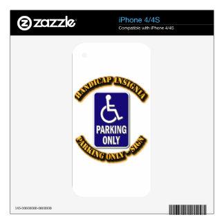 Handicap Insignia,Handicap sign,handicapped tag,ha iPhone 4 Decals