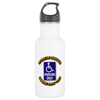Handicap Insignia,Handicap sign,handicapped tag,ha Stainless Steel Water Bottle
