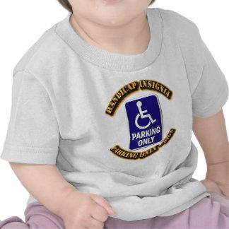 Handicap Insignia,Handicap sign,handicapped tag,ha Tshirts