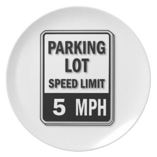Handicap Insignia - Parking Lot Speed Limit Dinner Plate