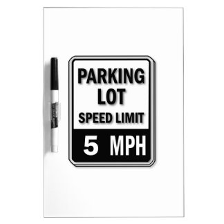 Handicap Insignia - Parking Lot Speed Limit Dry-Erase Whiteboard