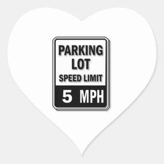 Handicap Insignia - Parking Lot Speed Limit Heart Sticker