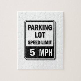 Handicap Insignia - Parking Lot Speed Limit Jigsaw Puzzle