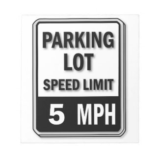 Handicap Insignia - Parking Lot Speed Limit Memo Notepads