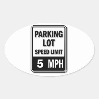 Handicap Insignia - Parking Lot Speed Limit Oval Sticker