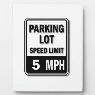 Handicap Insignia - Parking Lot Speed Limit Display Plaque