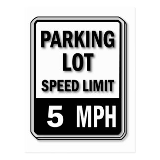 Handicap Insignia - Parking Lot Speed Limit Postcard