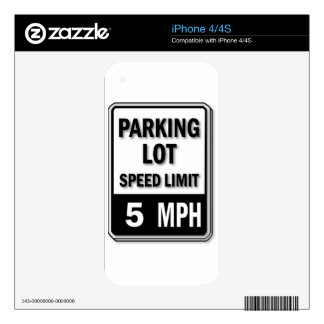 Handicap Insignia - Parking Lot Speed Limit Decal For iPhone 4S