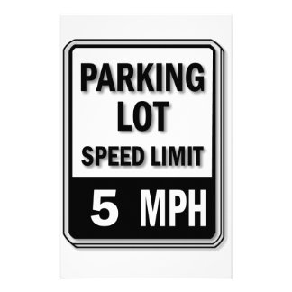 Handicap Insignia - Parking Lot Speed Limit Stationery Paper