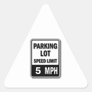 Handicap Insignia - Parking Lot Speed Limit Triangle Sticker