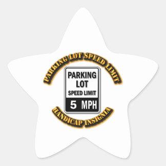 Handicap Insignia - Parking Lot Speed Limit with T Star Sticker